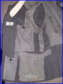 Fliegerbluse LW Flak Allemand WW2 armée de l'air M40 100% authentique WWII