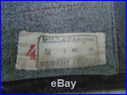 France 39-45 Gilet En Cuir Pour Motocycliste Date 1940 / Vintage France Ww2
