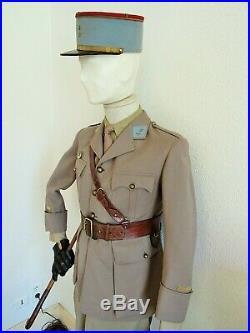 France 40 Armée D'afrique Lot Tenue Uniforme Kepi Officier Tirailleurs 5° Rtm