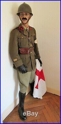 France 40 Lot Tenue Uniforme Casque Officier Médecin Service Sante Juin 1940