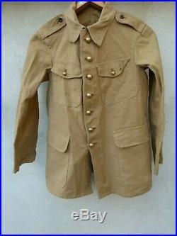 France 40 Vareuse beige tenue été regimentée 28 RTT modifié sous Officier
