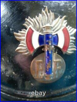 Gendarmerie Garde chef Etat Français Casque 1933 type II