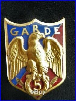 Gendarmerie Régiment de la Garde le 5 ém avec GARDE
