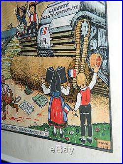 HANSI affiche JETZ AWER NÜSS la Grande Balayeuse WW2 USA Anglo-Franco-Américaine