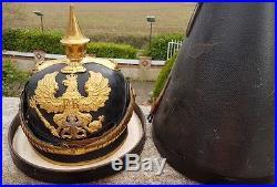 Haarbusch-pickelhaube-casque a pointe-plumet-parade-allemand guerre-1870-prusse