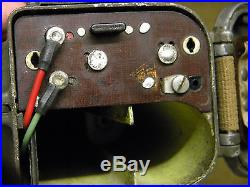 Handie talkie walkie SCR/536 BC/611 US WWII WW2 signal corps wireless radio JEEP