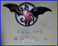 Insigne Sal 105, 4° Escadrille Du GB 2 / 62 Émail Attache Epingle Ww2