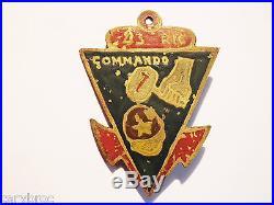 Insigne 43 ème R I C commando 7 marine coloniale extrême orient indochine 39-45