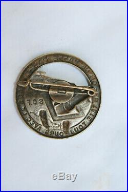 Insigne Maginot génie 1/ 222 Bataillon SCF Forteresse On ne passe pas