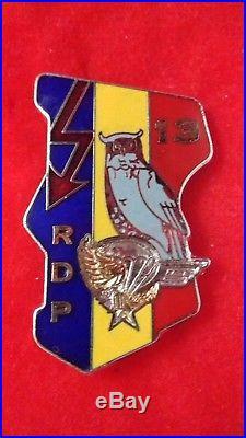 Insigne Parachutiste 13 Rdp Equipes Recherches Tchad Destree Matricule