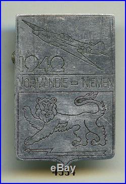 Insigne air, EC. NORMANDIE NIEMEN (tout métal, 1942 avion & 1 lion)