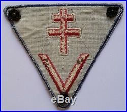 Insigne patch tissu parachuté gradé MAQUIS FFI RESISTANCE France ORIGINAL WWII