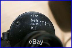 JUMELLES KRIEGSMARINE U-Boot 7 x 50 Leitz (Leica) beh 1941 avec étui cuir RARE