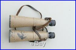 JUMELLES WWII Chef de Char Artillerie 10 X 50 sable avec étui bmj Rare