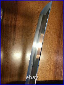 Japanese army officer sword shin gunto wakizashi signed Asai Yasutsuna