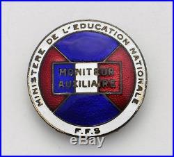 Jeunesse et Montagne, Moniteur Auxiliaire (insigne de ski) augis matriculé