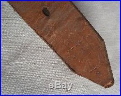 Jugulaire cuir Casque Allemand ORIGINALE ftb 44 German chinstrap SUPERBE