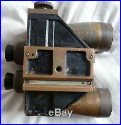 Jumelles De Bord Marine Wwii Bronze 8x50 Srpi Modele 1937 Binoculaires Navy Bino