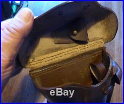 KIT Etui Holster cuir rigide LUGER P08 ARTILLERIE (P 08) brun brown WW1