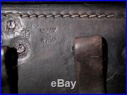 LUGER P08 Étui en cuir Allemand 100% Original avec marquages WW2 German Holster