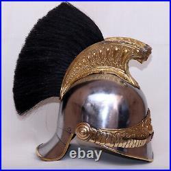 Laiton Casque Officer De Dragons Militaire Cavalerie Empire Napoleon Réplica