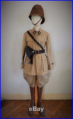 Legion Étrangère Guerre Du Rif Lot Tenue Uniforme Casque Colonial Officier