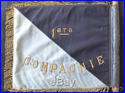 Légion etrangere 1 ér Bataillon de Marche 1ér Compagnie Fanion