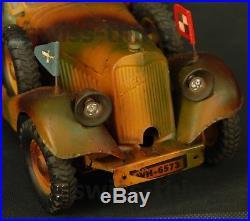 Lineol Elastolin Kübelwagen jouet véhicule tôle allemand bleich 1938 WWII German