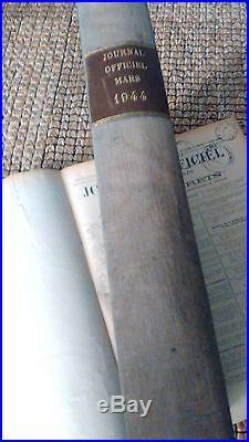 Livre Journal Officiel Etat Francais 1944 43 42
