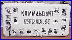 Lot 3 Ancienne Plaque Allemande Émaillé Casque Allemand Ww2 39 45 Faire Offre