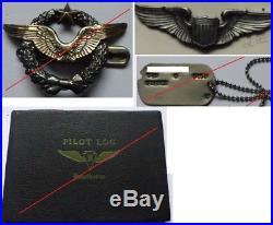 Lot Brevet Pilote matriculé USA 1945 aviation etc
