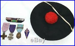 Lot Fnfl Bachi Medailles Insignes France Libre