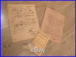 Lot LVF livret individuel WWII Légion Volontaires Français + divers papiers
