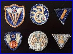 Lot dinsignes originaux US Air Force WW2WW2 US Air Force Grouping PatchWWII