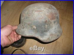 Lot equipement militaire allemand casque, lunette fusil tireur elite guerre 39/45