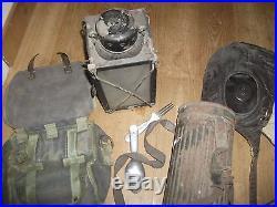 Lot equipement militaire allemand seconde guerre casque pilote divers etui 39/45