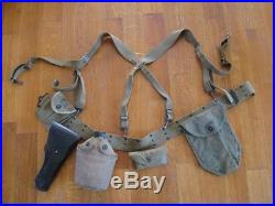 Lot équipements US casque capote ww2 Original