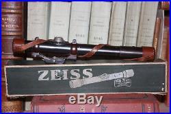 Lunette Zeiss Zielklein + montage + boite Vintage German sniper scope Mauser
