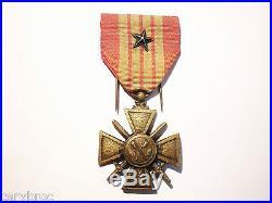 Médaille croix de guerre 1943 GIRAUD France Libre FAFL Afrique du Nord 39-45