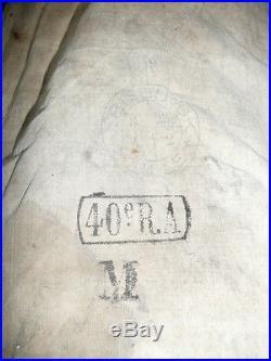 Manteau capote artilleur francais ww2 regimente du 40 eme regiment d artillerie