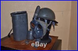Marine Masque A Gaz Afm 34 Avec Casque. Ww2. (obsolete) Modifié