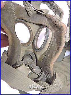 Masque A Gaz Allemand Ww. 2 + Boite + Etui Cape Direct Grenier
