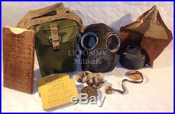 Masque à gaz Light MKIII 100% complet avec accessoires (brassard) GB WW2 anglais