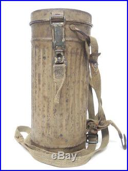 Masque à gaz allemand camouflé original WW2 pas casque