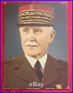 Militaria Maréchal Pétain portrait officiel Vichy signature autographe originale