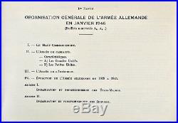 Militaria, NOTICE SUR L'ARMEE ALLEMANDE 1945, Planches couleurs, Uniformes