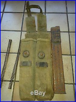 Militaria WW2 Chargeur Allemand de Mitraillette MP38 ou MP40. Et porte chargeurs