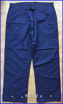 NEUF! Pantalon treillis modèle 1923 en toile bleu indigo bourgeron bleu horizon