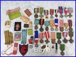 N° 1 Lot de médailles vendues en un lot unique telles que trouvées