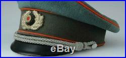 Original Schirmmütze Artillerie Casquette Officier Wh